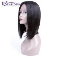 باروكات الشعر الرباط Beaudiva الإنسان الباروكات الشعر القصير الإنسان البرازيلي 100٪ على التوالي منبت الشعر الرباط الباروكة بوب