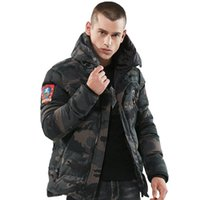New Winter Men jackets Parkas Camouflage Thick warm hooded C...