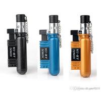 새로운 protable 제트 화염 토치 라이터 리필 부탄 가스 라이터 시가 라이터 방풍 주방 라이터 흡연