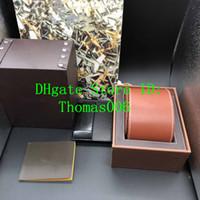Migliore qualità Colore Marrone leathe scatole regalo 1884 Carte Guarda Box Opuscoli nera Scatola di legno per orologio include nuovo certificato Bag