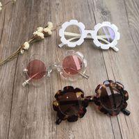 خمر النظارات الشمسية الاطفال الأطفال نظارات شمسية جولة زهرة الطفل الأطفال UV400 الرياضة النظارات الشمسية بنات بنين