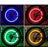 500 pcs Firefly falou LED Válvula de roda CAP CAP Pneu movimento de luz de néon para bicicleta bicicleta carro motocicleta