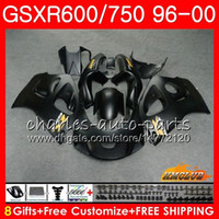 Body For SUZUKI Matte black SRAD GSXR 750 600 GSXR- 600 GSXR7...
