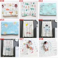 Bebê Wraps Parisarc Bamboo Cotton toalhas de banho Robes recém-nascido Impresso gavetas Gauze Verão Cobertores Pram Stroller Tampa viveiro cama A5837