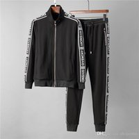 20SS Fall neuer Brief mens Luxus-Designer-Druck sweatsuit Trainingsanzüge ~ Tops Herren Training Schweiß Trainingsanzüge Joggen