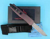High Quality Red Dot A07 Damasco AUTO lama tattica singolo bordo Tanto Belle lama esterna di sopravvivenza di salvataggio della lama di EDC coltelli da tasca