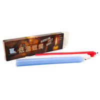 Fun low temperature candles (long) 3pc blue, white and red t...