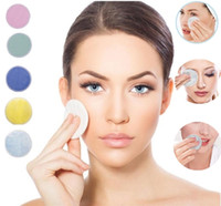 ماكياج الخيزران القطن مزيل الوسادة لينة قابلة لإعادة الاستخدام العناية بالبشرة الوجه المسحات قابل للغسل التنظيف العميق مستحضرات التجميل جولة أداة مزيل مكياج الوسادة F0072