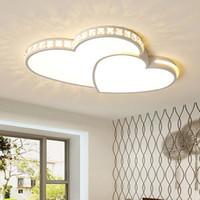 YENİ Kalp şeklinde Çocuk Odası Romatic Düğün Armatür Avize Tavan Lambası R57 için tavan lambası Modern Aydınlatma Plafondlamp LED