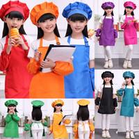 I bambini Grembiuli Tasca del mestiere Cooking cottura arte pittura Bambini Cucina Sala Bavaglino per bambini Grembiuli per bambini Grembiuli 10 colori XD20944