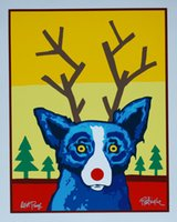 George Rodrigue Blue Dog Home Decor Handcrafts  HD Print Oil...