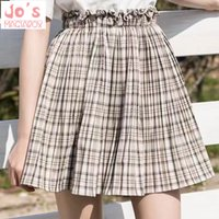 60eb07beb00 Wholesale plaid school uniforms for sale - 2019 Spring Summer Plaid Japanese  Kawaii Mini Skirt Women