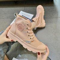 2021 Candy High Top Toile Chaussures pour femmes en été respirant NOUVELLES Bottes de Martin Bottes Loisirs Chaussures Femmes Britanniques Trend