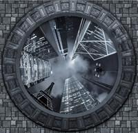 Carta da parati personalizzata 3D Rotolo Cielo Alto della città da letto Soggiorno decorazione del soffitto parete