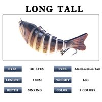 Top quality Trolling Fish Lures Swim Minnow Wobbler Multi-section Hard Bait100mm 16g Artificial Crankbait Jig Pesca Fishing tackle Lure
