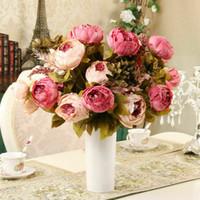 13 رؤوس / باقة زهرة الفاوانيا الاصطناعي لحضور حفل زفاف ديكور المنزل الحرير نباتات الفاونيا UK