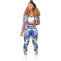 FLORAL IMPRESSION FLORAL CORRECT FLORAL SUR LA PLANSUIT SET DES FEMMES AUTOMNE Jumpsuits Lady Outfit Fashion Sexy Casual Tracksuits S-2XL