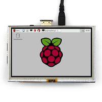 "Freeshipping 5 ""LCD 840 * 480 H-D-MI Dokunmatik Ekran 5 inç TFT LCD Monitör Modülü Ahududu Pi 3 Model B / Capberry Pi için Kalkan"