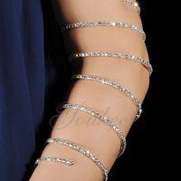 Luxury Designer Jewelry Women Bracelets Arm Bracelet Belly Dance Performance Jewelry 7 Ring Rhinestone Bracelet Bridal Wedding Accessories