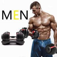 New Peso Ajustável Dumbbell 5-52.5lbs Workouts Fitness Dumbbells Tom sua força e construir seus músculos