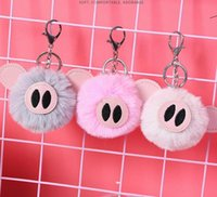 Plush Keychain Cute Pig Cartoon Creative Key Pendant Bag Key...