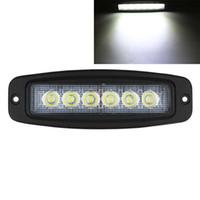 Barra de luz de trabajo de inundación de montaje al ras de aleación de aluminio 10-30V 6 LED del coche que conduce la lámpara reversa