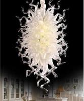 Современный стиль искусства дизайна люстры матовое белое ручное вздутие раздува мурано стекло со стеклянными люстрыми потолочными огнями для свадебного дома