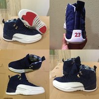 Winterize 12 Gym Red 12s College Navy Männer Retro Basketballschuhe Michigan WINGS Bulls Flu Game der Meister schwarz Sport Trainer Sneaker