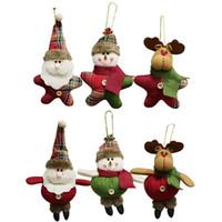 Рождество плюшевый украшения Xmas висячие украшения Санта-Клаус снеговика Олени Кукла рождественской елки Подвеска Праздник партии Декор JK1910