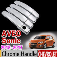 Car Chrome Door Handle Cover for Chevrolet Sonic Aveo T300 H...