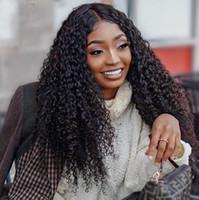 moda novo penteado Africano Americ cabelo brasileiro cor preto encaracolado afro longo crespo peruca Simulação cabelo humano peruca encaracolado