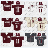 Mississippi State Bulldogs 16 Jack Eagan 17 Justin Foscue 18 Keegan James 19 Jared Liebelt 5 Tanner Allen NCAA College-Baseball-Trikot