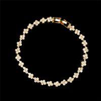 Na moda Pulseira de cristal para Mulheres Meninas Micro Cristal Braslet Ouro / Prata Cor Cadeia BraceletBangles Jóias presente