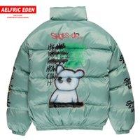Aelfric Eden Hip Hop Lackierpistole Printed Mens Thick Parkas beiläufige Warm Padded Jacket Coats 2019 Harajuku Windjacke Street