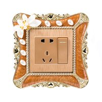 3D Flower Wall Switch Frame Single Light Switch Sticker Livi...