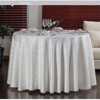 Luxuosa tampa redonda da mesa redonda Jacquard Damask Tabela de pano de pano de mesa de toalha de casamento Tabela de tecido lavável Tabela 10pcs