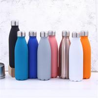 Tazze da viaggio in vetro da 500 ml Cola, bottiglia da acqua a doppia parete, in acciaio inox con coibentazione sottovuoto