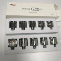 Original Yocan Evolve Plus XL Cera QUAD bobina Quatz varilla Replacemen Bobinas Cabeza Para Yocan volve Plus XL Vape Pen