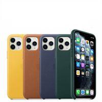Alta quailty celular Couro Telefone Material da Caixa Atacado PU logotipo traseiro com metal Botão Para iPhone 11 pro X