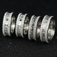 Victoria Wieck Luxus Schmuck 925 Sterling Silber Princess Cut Weiß Topas CZ Diamant Frauen Hochzeit Verlobungsring Ring Für Liebhaber Geschenk