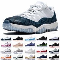 11 Mens 11s Scarpe da pallacanestro Blue Pink Snakeskin Light Bone High Concord 45 Space Jam Gym Red XI Designer Sneakers Uomo Scarpe sportive