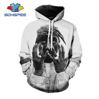 2Pac Hoodies Moda de Nova Homens Mulheres Anime camisola 3D Imprimir Rapper manga comprida Hip Hop Streetwear Tops O pescoço Pullover C039-14