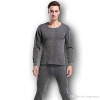 Sous-vêtements Thermiques pour les hommes d'hiver Thermo Sous-vêtements Long Johns Vêtements d'hiver Hommes épais vétement solide
