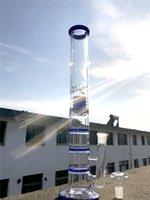 Nargile Büyük Su Bongs Düz Geri Dönüşüm Yağı Rigleri DAB Bisbler Üçlü Honeycomb PERC Sigara Cam Borular Kase Kül Catcher 18.8mm