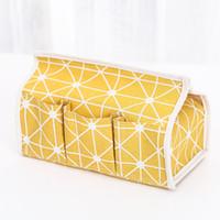 Coton et lin boîtes de mouchoirs multi fonction antipoussière porte-serviette organisateur tissus cas créatif avec haute qualité 5ws J1