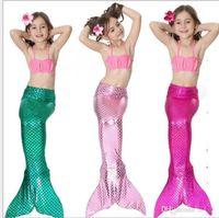 34 projeto Meninas Bikini Sereia Cauda Maiô Vestido Infantil Crianças Swimsuit Swimwear Maiôs Trajes De Banho De Verão Trajes