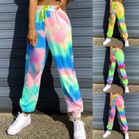New Tie Dye Joggers High Waist Long Pants Women Sexy Sweatpa...
