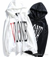 SS Fashion luxury big V designer hoodie LOVE printing patchw...