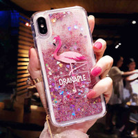 Para iphone x xr xs max 6 7 8 plus phone case criativo glitter líquido capa protetora quicksand caso do telefone móvel