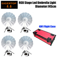 4in1 Road Case Pack Rgb Led Umbrella Light Eye Catcher Rainbow Effect Dmx512 Control Easy Installation Diameter 87cm Cmy Color Moderate Price Lights & Lighting